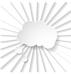 white paper speech bubble vector image