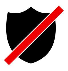 Wrong shield - icon vector