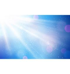 Abstract blue white sun light bokeh vector image vector image