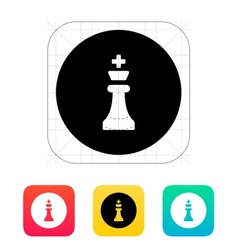 Chess King icon vector image vector image