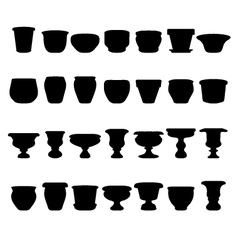 flowerpots and pottery vector image vector image
