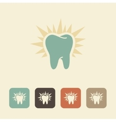 Healthy tooth icon vector image vector image