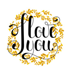 i love you sign on a white background vector image vector image