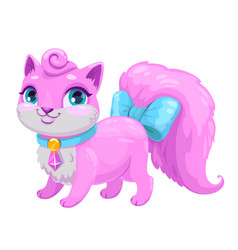 little cute cartoon kitty princess vector image vector image