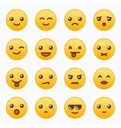 Yellow emoticons set vector image