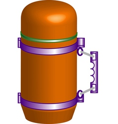Yellow thermos vector image vector image