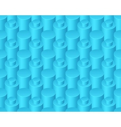 Blue abstract columns seamless pattern vector image vector image
