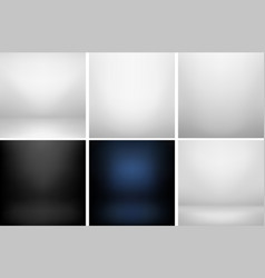 collection of studio backgrounds vector image