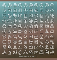 line web icon - set 1 vector image