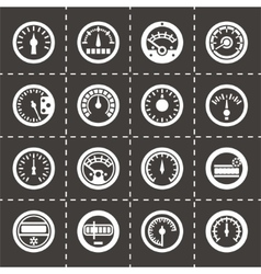 Meter icon set vector image