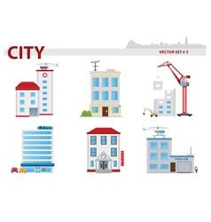 Public building Set 3 vector image
