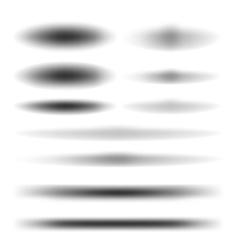 Set design shadow vector image