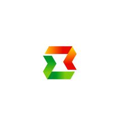 abstract ribbon technology logo vector image