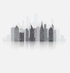 Fog city copy vector image vector image