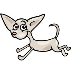 running chihuahua cartoon vector image vector image