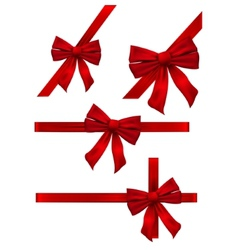 Several bow decoration vector image vector image