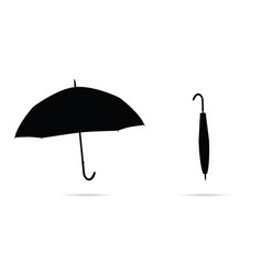 Umbrella in black on white background vector