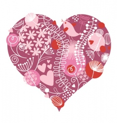 Valentine's card vector image vector image