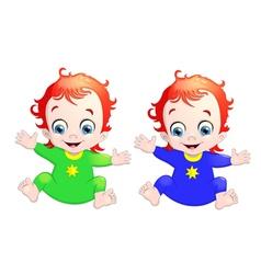 very cute children vector image