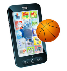 Basketball ball cell phone vector
