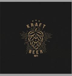 craft beer logo vector image vector image