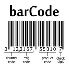 decoding of the barcode vector image vector image