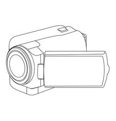 figure camcorder icon image vector image