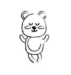 Figure cute bear boy wild animal character vector