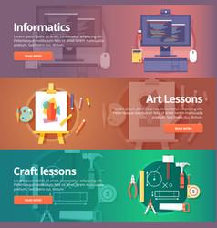 informatics lesson computer technologies vector image
