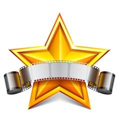 Movie star vector image