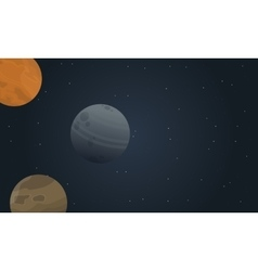 Outer space landscape vector