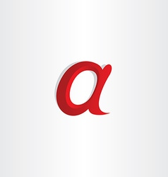 small letter a symbol design vector image vector image