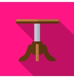 Stool flat icon vector image vector image