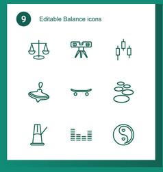 9 balance icons vector