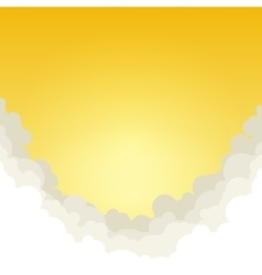 Abstract Yellow Background with Clouds vector