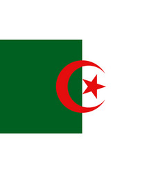algeria flag icon in flat style national sign vector image