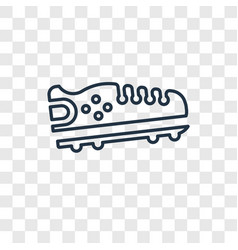 american football black shoe concept linear icon vector image