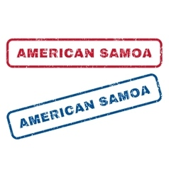 American samoa rubber stamps vector