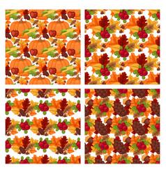 Autumn berries seamless pattern vegetarian vector