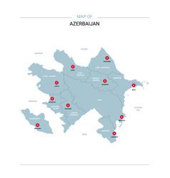 Azerbaijan with red pin vector