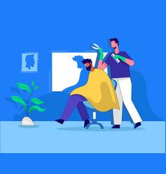 Barber shop flat design vector