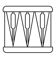 Bass drum icon outline style vector