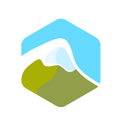 beautiful logo with alps vector image