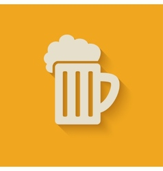 beer mug design element vector image