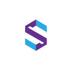Best letter s logo design template vector