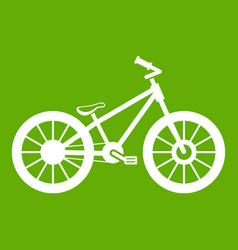 bike icon green vector image