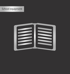 Black and white style icon of school notebook vector