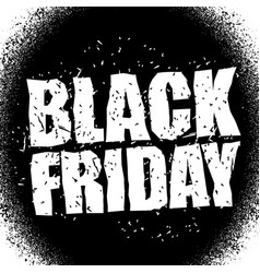 black friday design template in grunge style vector image