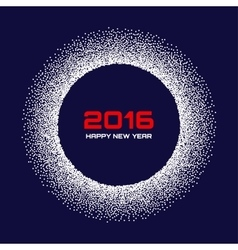 Blue - White New Year 2016 Snow Flake Background vector image