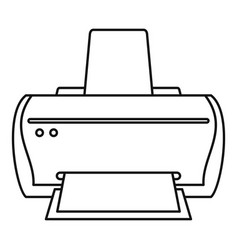 brand printer icon outline style vector image
